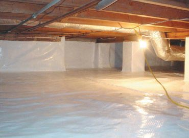 A clean crawl space that is being properly insulated